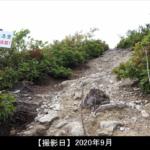 飯士山の登山途中の写真