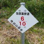 弥彦山 裏参道コース看板021