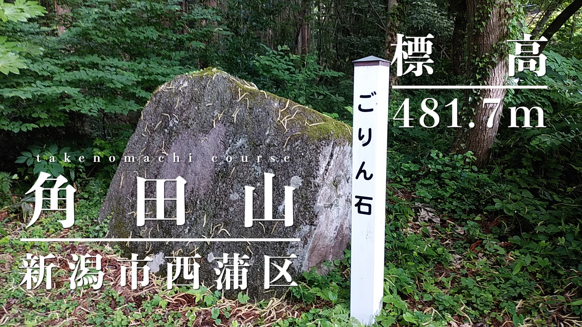 角田山 登山道 ごりん石 アイキャッチ